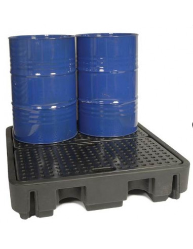Palette PE 4 fûts 250 L huile