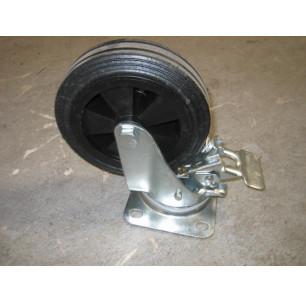 Roue 200 mm avec frein